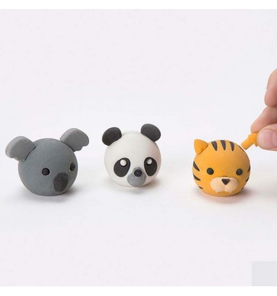 Gommes animaux interchageables