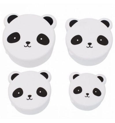 Snack box Panda - (pack de 4)