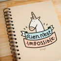 Carnet de notes licorne - Rien n'est impossible