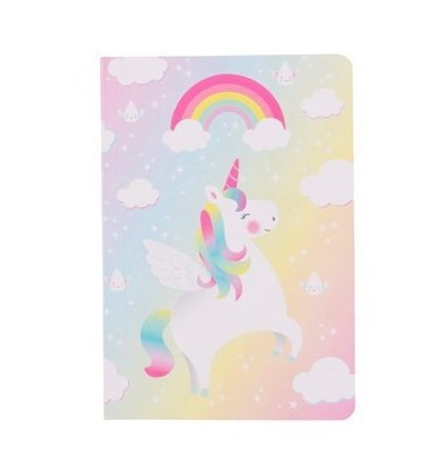 Carnet de notes licorne arc-en-ciel