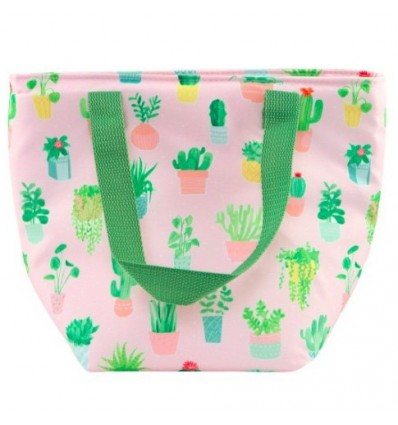 Sac lunch bag pastel imprimé cactus